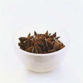 Star anise in a small bowl