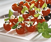 Stuffed cocktail tomatoes