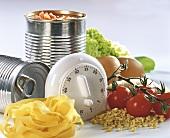 Ingredients for quick diabetic cuisine