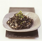 Black spaghetti with cuttlefish