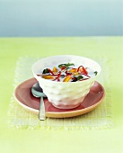 Coconut milk soup with vegetables