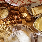 Ingredients for nut pastry