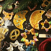 Colourful tree ornaments