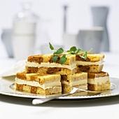 Cappuccino vanilla sandwich slices