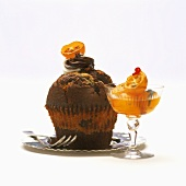 Marbled muffin with kumquat jam