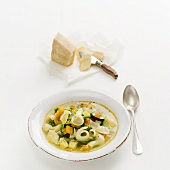 Minestrone alla parmigiana (vegetable soup from Parma, Italy)