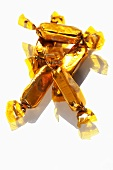 Sweets in gold wrappers