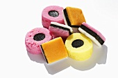 Colourful mixed liquorice sweets
