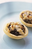 Mincemeat tart with marzipan topping