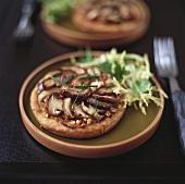 Mini mushroom pizza