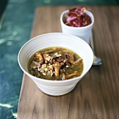 Chanterelle soup with pearl barley