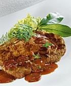 Rump steak with Bordelaise sauce