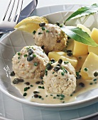 Königsberger Klopse (Königsberger meatballs) with potatoes