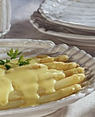 Asparagus with Grandma's thick egg sauce