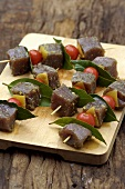 Tuna kebabs for grilling