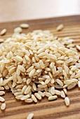 Camargue-Reis auf einem Haufen