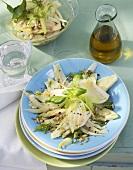 Fennel and celery salad with lemon vinaigrette