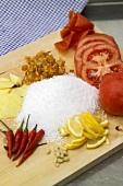 Ingredients for tomato jam