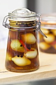 Sweet and sour pickled onions