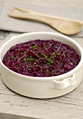 Red cabbage in a dish