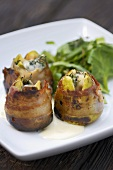 Stuffed bacon-wrapped figs