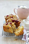 Almond and cherry friands