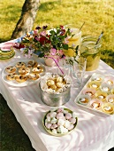 Garden party with sweet baking