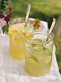 Limeade and lemonade