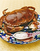 A crab with dip