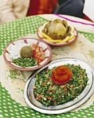 Three Lebanese appetisers