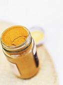 Curry powder in jar