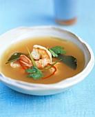 Lemon grass soup with shrimps (Thailand)