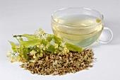 Linden blossom tea and linden blossom