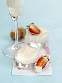 Champagne cream with strawberries