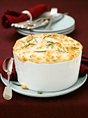 Potato soufflé in baking dish