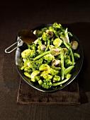 Green vegetable platter