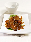 Duck breast in plum sauce