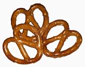 Three salted pretzels