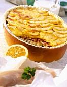 Cod pie with potato crust
