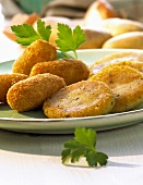 Potato croquettes and potato cakes