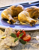 Chicken legs with shallot and sage sauce