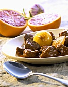 Fruity lamb ragout