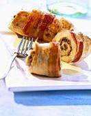 Turkey rolls with mushrooms