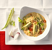 Okra and vegetable curry