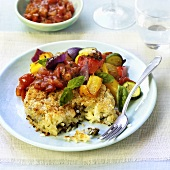 Rice burger with vegetables