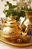 Moroccan teapot and tea glass