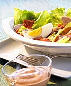 Chef's salad with Thousand Island dressing