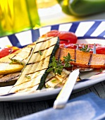 Grilled vegetables with thyme