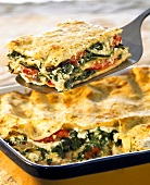 Vegetable lasagne with ramsons (wild garlic) sauce