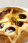Yeasted pastry with chocolate balls & candied orange zest